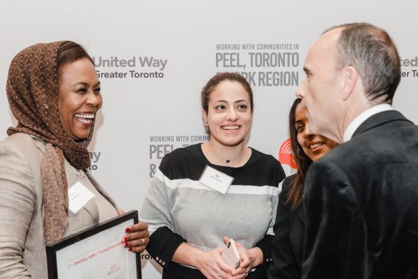 Daniele Zanotti, United Way Greater Toronto, President and CEO, speaking with award recipient