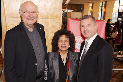 Former BC Premier Harcourt, Michael McKnight CEO of UW Lower Mainland and Raksha M. Bhayana